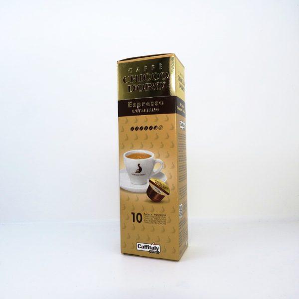 Confezione da 10 capsule di caffè Chicco d'oro Espresso italiano