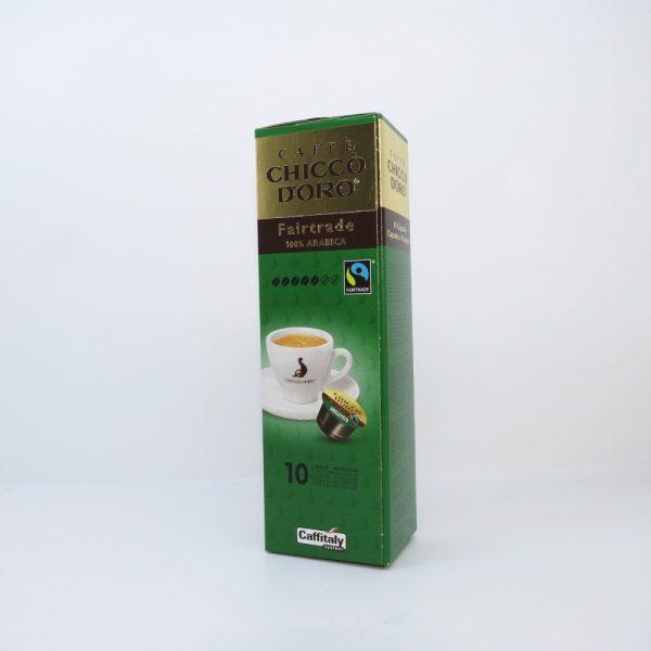 Confezione da 10 capsule di caffè Chicco d'oro Fairitrade