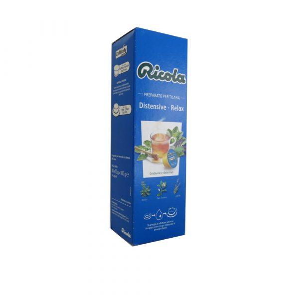 Confezione da 10 capsule di tisana Ricola Distensive Relax.