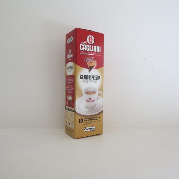 Confezione da 10 capsule di caffè Cagliari Grand espresso