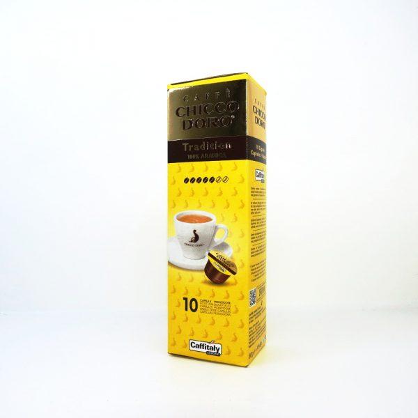 Confezione da 10 capsule di caffè Chicco d'oro Tradition