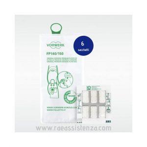 Filtrello premium FP140/150 più profumatore Dovina per Aspirapolveri Vorwerk VK140 e VK150